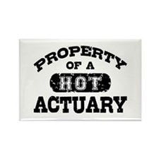 Property of a Hot Actuary Rectangle Magnet