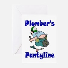 Plumber's pantyline Greeting Cards (Pk of 10)