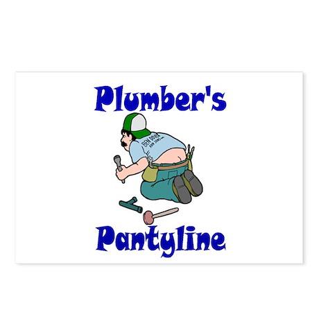 Plumber's pantyline Postcards (Package of 8)