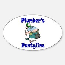Plumber's pantyline Oval Decal