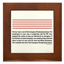 Emergency Broadcasting System Framed Tile
