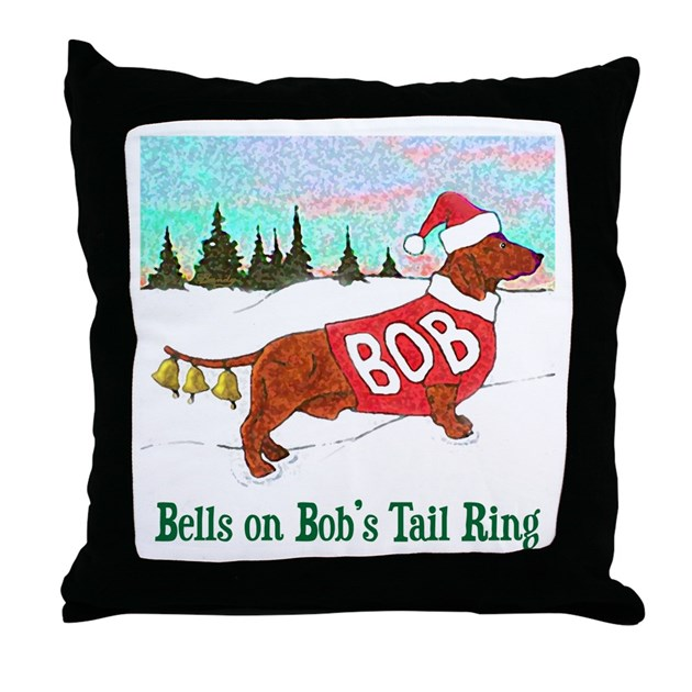 Quot Bells On Bob S Tail Ring Quot Throw Pillow By Carlbandy
