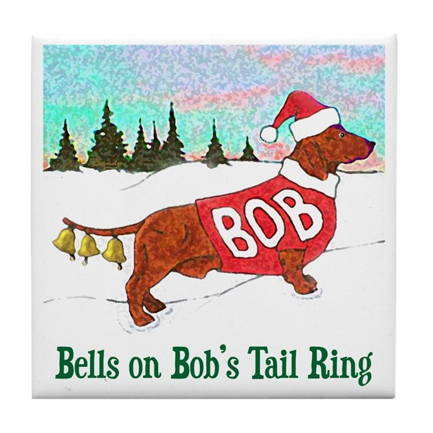 Quot Bells On Bob S Tail Ring Quot Tile Coaster By Carlbandy