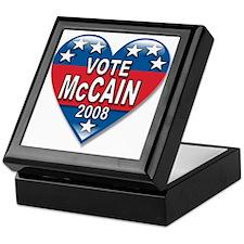 Vote John McCain 2008 Political Keepsake Box