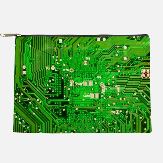Circuit Board - Green Makeup Pouch