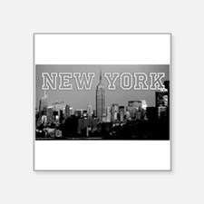 "Empire State New York City Square Sticker 3"" x 3"""