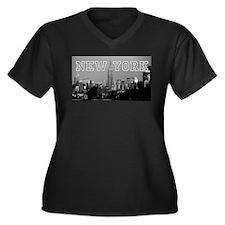 Empire State Women's Plus Size V-Neck Dark T-Shirt