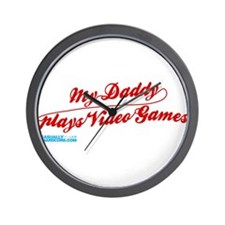 My Daddy Plays Video Games Wall Clock