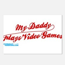My Daddy Plays Video Games Postcards (Package of 8