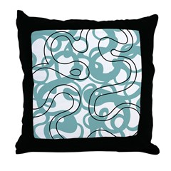 Lava Aqua Throw Pillow