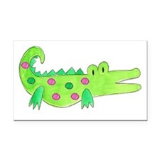 Preppy Alligator Girl Rectangle Car Magnet