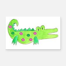 Preppy Alligator Girl Rectangle Car Magnet