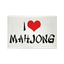 I Love Mahjong Rectangle Magnet (10 pack)
