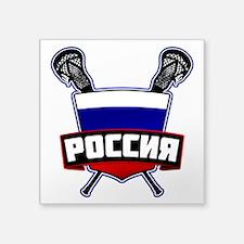 Russian Flag Lacrosse Logo Sticker