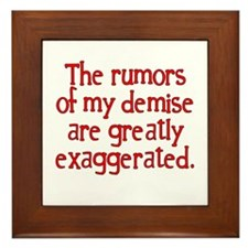 The Rumors... Framed Tile