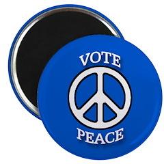 Blue Vote Peace Political Magnet