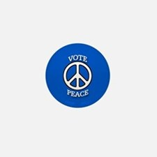 Vote Peace Blue Mini Button