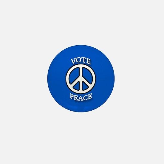 Vote Peace Blue Mini Button