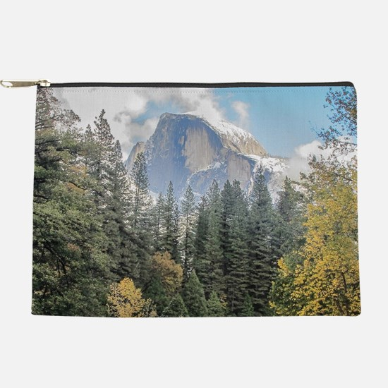 Autumn Mountain & River Scene Makeup Pouch