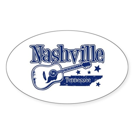 Nashville Tennessee Oval Sticker