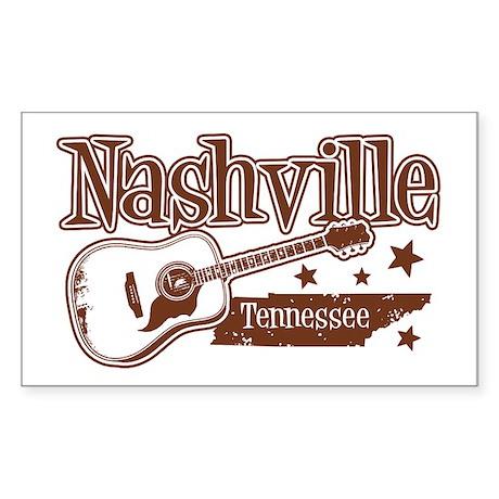 Nashville Tennessee Rectangle Sticker
