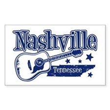 Nashville Tennessee Rectangle Bumper Stickers