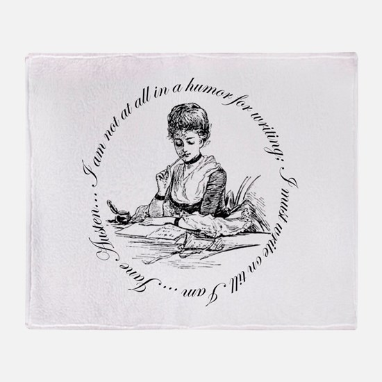 Writing Pen Ink Throw Blanket