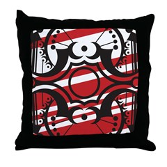 Crescent Red Throw Pillow