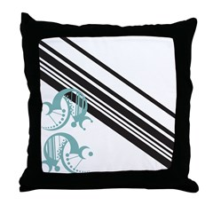 Crescent Aqua Throw Pillow