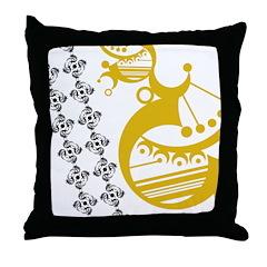 Crescent Mustard Throw Pillow