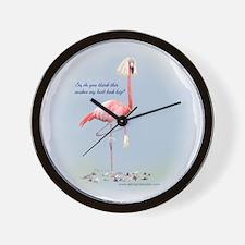 Bride Flamingo Wall Clock