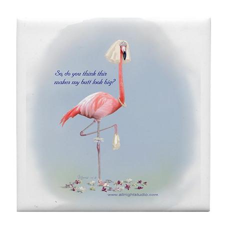 Bride Flamingo Tile Coaster