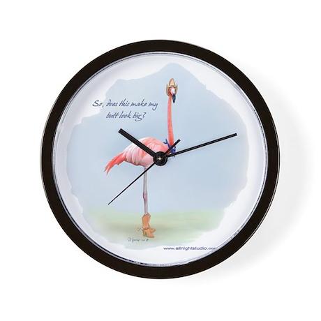 Cowboy Flamingo Wall Clock