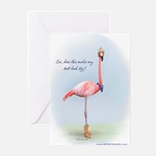 Cowboy Flamingo Greeting Cards (Pk of 10)