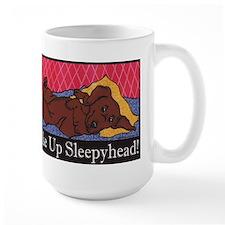 """Wake Up Sleepyhead"" Dachshund Mug"