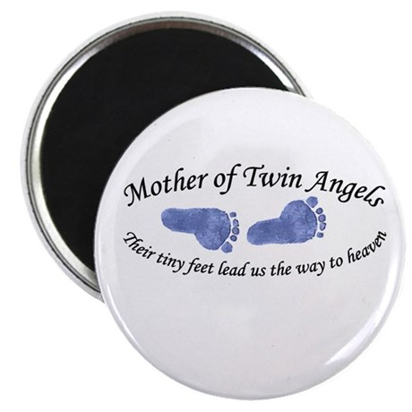 Mother of Twin Angel Boys Magnet