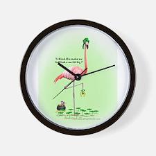 St Patrick's Day Flamingo Wall Clock