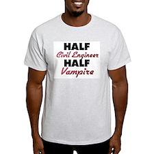 Half Civil Engineer Half Vampire T-Shirt