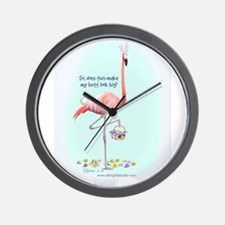 Easter Flamingo Wall Clock