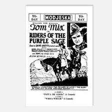 Tom Mix PURPLE SAGE Postcards (Package of 8)