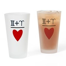 Gemini + Aries = Love Drinking Glass