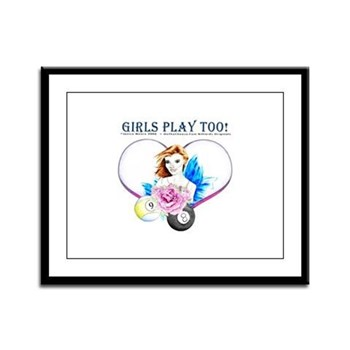 Girls Play Pool Too Rose Fairy Framed Print
