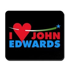 I HEART JOHN EDWARDS Mousepad