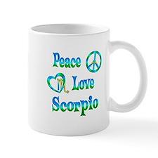 Peace Love Scorpio Mug
