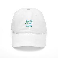 Peace Love Scorpio Baseball Cap