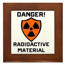 Danger Radioactive Material Framed Tile