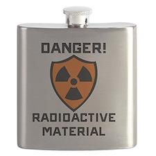Danger Radioactive Material Flask