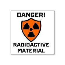 "Danger Radioactive Material Square Sticker 3"" x 3"""