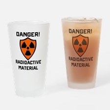 Danger Radioactive Material Drinking Glass
