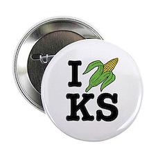 I Love Kansas (corn) Button